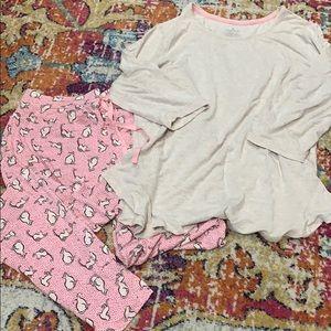 Cuddl Duds Cat Pajama Set